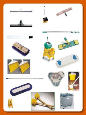 Utensilios de limpieza para hoteles escobas recogedores - Como limpiar una habitacion ...