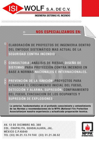 Isi wolf sistemas de proteccion contra incendio seguridad - Sistemas de seguridad contra incendios ...